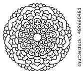 vector mandala  india ornament. ... | Shutterstock .eps vector #489660481