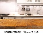 wooden table of free space and... | Shutterstock . vector #489675715