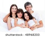 portrait of a happy family... | Shutterstock . vector #48968203