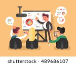 business report presentation | Shutterstock .eps vector #489686107