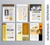 classic business brochure... | Shutterstock .eps vector #489696484