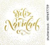 feliz navidad gold glitter