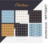 modern minimal christmas... | Shutterstock .eps vector #489706897