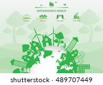 ecology connection  concept... | Shutterstock .eps vector #489707449