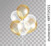 gold transparent balloon on...