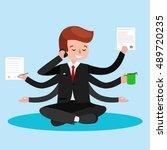 business relaxation.business...   Shutterstock .eps vector #489720235