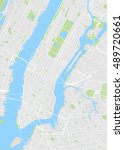new york colored vector map | Shutterstock .eps vector #489720661