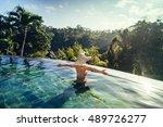 sexy woman enjoying the sun at... | Shutterstock . vector #489726277