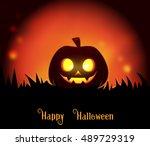 happy halloween background | Shutterstock . vector #489729319