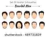 set of unique avatars of... | Shutterstock .eps vector #489731839
