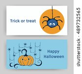 halloween card  flyer  banners. ... | Shutterstock .eps vector #489732565