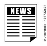 newspaper icon. news... | Shutterstock .eps vector #489732634