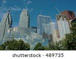 city rising   downtown rising... | Shutterstock . vector #489735