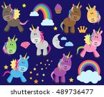 cute vector collection of... | Shutterstock .eps vector #489736477
