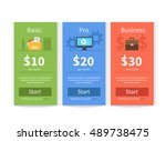 vector pricing table template... | Shutterstock .eps vector #489738475