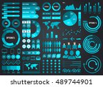mega pack and set infographic... | Shutterstock .eps vector #489744901