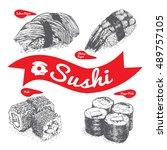 illustration of various sort of ... | Shutterstock .eps vector #489757105
