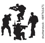 vector silhouettes of a group...   Shutterstock .eps vector #489761671