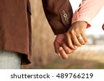 close up of a happy couple... | Shutterstock . vector #489766219