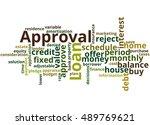 loan approval  word cloud... | Shutterstock . vector #489769621