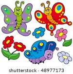 various cute butterflies  ... | Shutterstock .eps vector #48977173