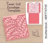 lazercut vector wedding... | Shutterstock .eps vector #489774745