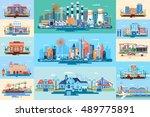 stock vector illustration set... | Shutterstock .eps vector #489775891