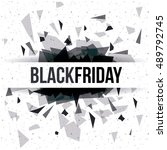 black friday icon. ecommerce... | Shutterstock .eps vector #489792745