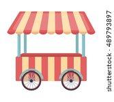 snack cart icon in cartoon...   Shutterstock .eps vector #489793897