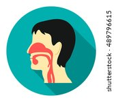 respiratory system icon cartoon.... | Shutterstock .eps vector #489796615