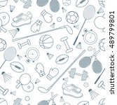 seamless pattern on the sports... | Shutterstock .eps vector #489799801