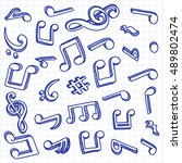 music notes. vector... | Shutterstock .eps vector #489802474
