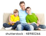 happy family. father and... | Shutterstock . vector #48980266