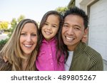 beautiful diverse family | Shutterstock . vector #489805267