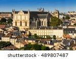 Cityscape of Poitiers, France at a summer day