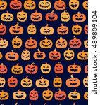 halloween seamless pattern.... | Shutterstock .eps vector #489809104