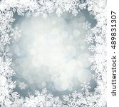 white vector snowflakes shapes... | Shutterstock .eps vector #489831307