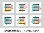 abstract vector layout... | Shutterstock .eps vector #489837844