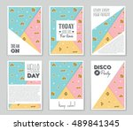 abstract vector layout... | Shutterstock .eps vector #489841345