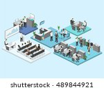 sometric flat 3d abstract... | Shutterstock .eps vector #489844921