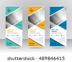 roll up banner stand template... | Shutterstock .eps vector #489846415