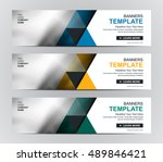 abstract corporate business...   Shutterstock .eps vector #489846421