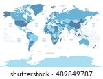 high detailed political world... | Shutterstock .eps vector #489849787