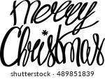 merry christmas. holiday... | Shutterstock .eps vector #489851839