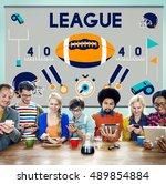league sport fitness exercise... | Shutterstock . vector #489854884