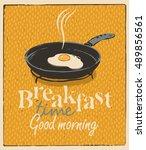 vector banner for breakfast... | Shutterstock .eps vector #489856561