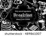 traditional breakfast.... | Shutterstock .eps vector #489861007