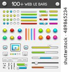 web interface ui elements.... | Shutterstock .eps vector #489865234