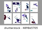 abstract background design with ... | Shutterstock .eps vector #489865705