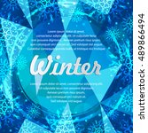 winter abstract banners with... | Shutterstock .eps vector #489866494